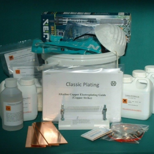 Alkaline Copper Plating Kit