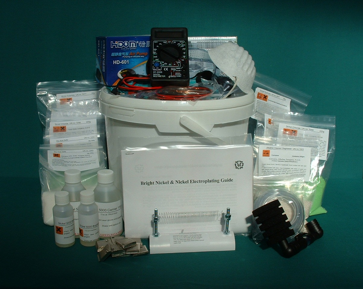 Bright Nickel Plating Kit - Professional - Classic Plating